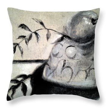 Branch Shadow Throw Pillow