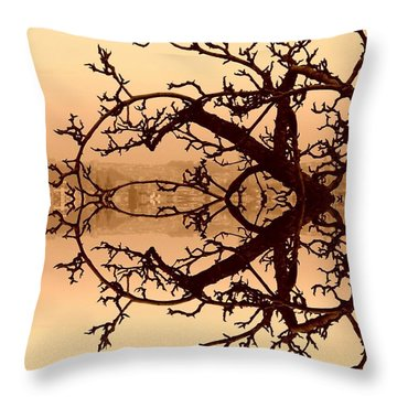 Branches In Suspension Throw Pillow