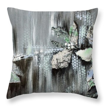 Throw Pillow featuring the painting Branches Of Fun by Joanne Smoley