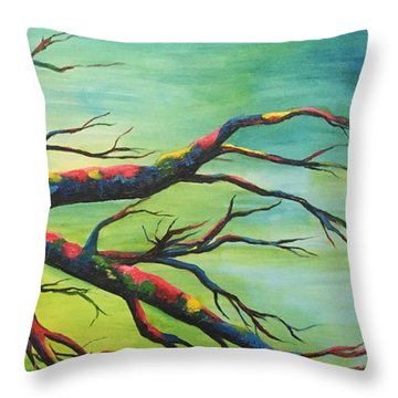 Branching Out In Color Throw Pillow