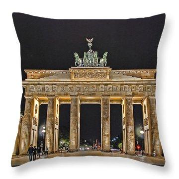 Brandenburg Gate Throw Pillow by Joachim G Pinkawa