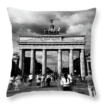 Brandenburg Gate Throw Pillow