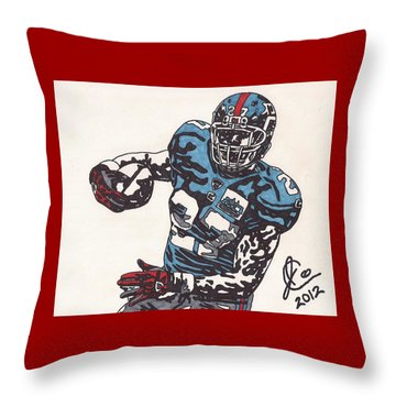 Brandon Jacobs 1 Throw Pillow