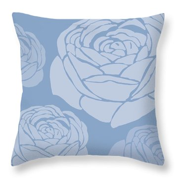 Brandon Rose Throw Pillow by Sarah Hough