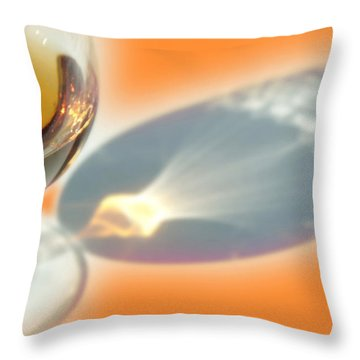 Brandy Glass Reflection Throw Pillow