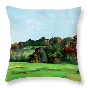 Beaver Valley Throw Pillow