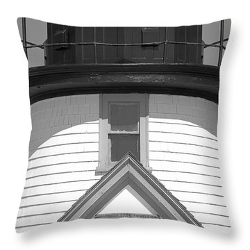 Brant Point Lighthouse Nantucket Throw Pillow