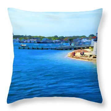 Throw Pillow featuring the digital art Brant Point by Rich Stedman