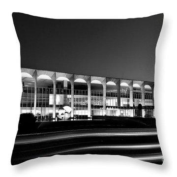Brasilia - Itamaraty Palace - Black And White Throw Pillow