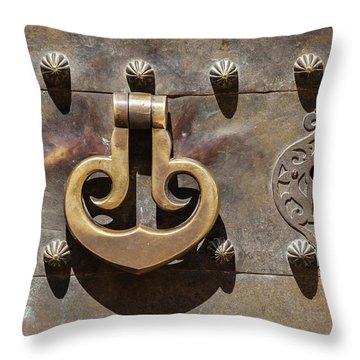 Brass Castle Knocker Throw Pillow