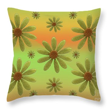 Brass Corollas Throw Pillow