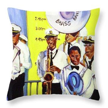 Brass Of  Class New Orleans Throw Pillow