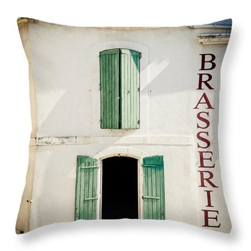 Throw Pillow featuring the photograph Brasserie by Jason Smith