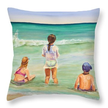 Brats Throw Pillow by Patricia Piffath