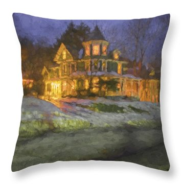 Brattleboro Victorian II Throw Pillow