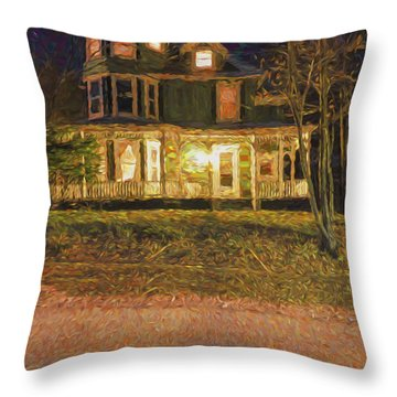 Brattleboro Victorian Throw Pillow