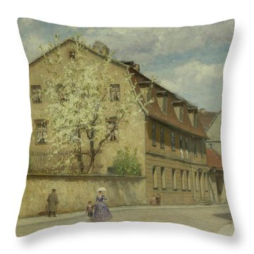 Braune Weimar Throw Pillow by Christoph Martin Weiland