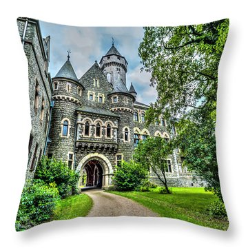 Throw Pillow featuring the photograph Braunfels Castle by David Morefield