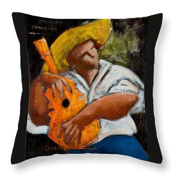 Throw Pillow featuring the painting Bravado Alla Prima by Oscar Ortiz