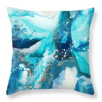 Brave Depths Throw Pillow