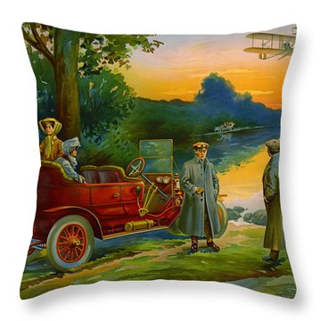 Brave New World 1910 Throw Pillow by Padre Art