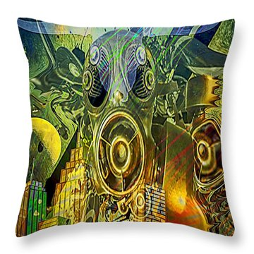 Throw Pillow featuring the digital art Brave New World by Eleni Mac Synodinos