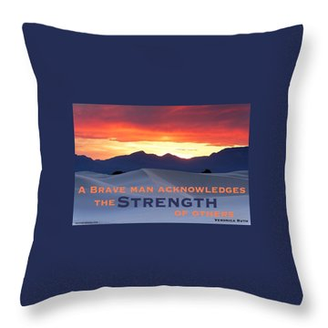Brave Thoughts Throw Pillow