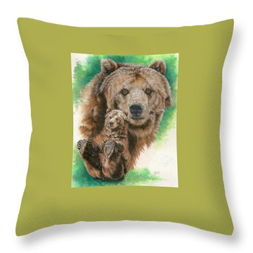Throw Pillow featuring the painting Brawny by Barbara Keith