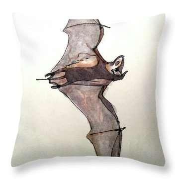 Brazilian Free-tailed Bat Throw Pillow