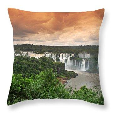 Throw Pillow featuring the photograph Brazil,iguazu Falls,spectacular View by Juergen Held