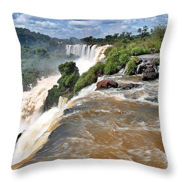 Throw Pillow featuring the photograph Brazil,iguazu Falls, by Juergen Held