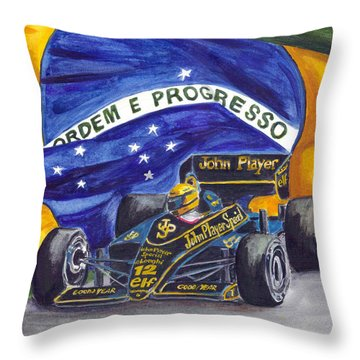 Brazil's Ayrton Senna Throw Pillow