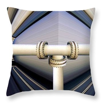 Breached Throw Pillow by Ron Bissett