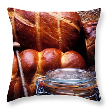 Bread And Honey Throw Pillow by Garry Gay