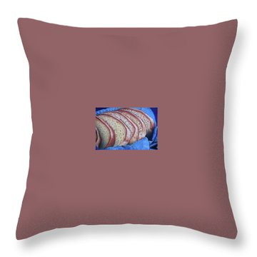 Throw Pillow featuring the painting Bread Basket by Mary Ellen Frazee