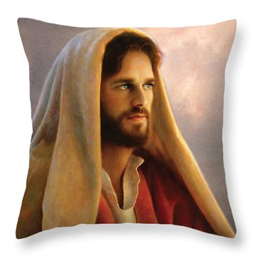 Throw Pillow featuring the painting Bread Of Life by Greg Olsen