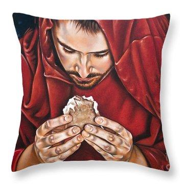 Bread Of Live Throw Pillow by Ilse Kleyn