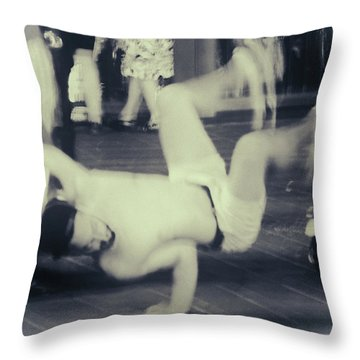 Throw Pillow featuring the photograph Break Dance by Rasma Bertz