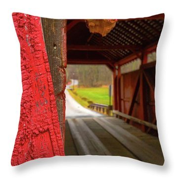 Break In The Bridge Throw Pillow