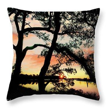 Break Of Dawn Throw Pillow by Tim Fitzharris