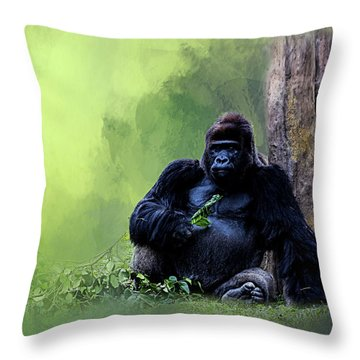 Break Time Throw Pillow by Cyndy Doty