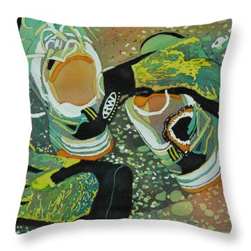 Break Time Throw Pillow by Terry Honstead