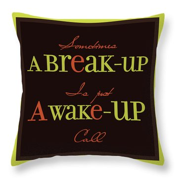 Break-up Throw Pillow by Richard Homawoo