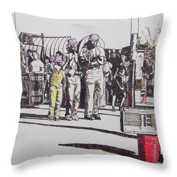 Breakdance San Francisco Throw Pillow