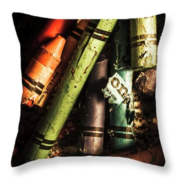 Breakdown Of Color Throw Pillow