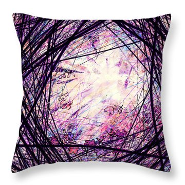 Breakdown Throw Pillow by Rachel Christine Nowicki