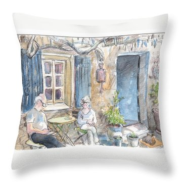 Breakfast Al Fresco Throw Pillow