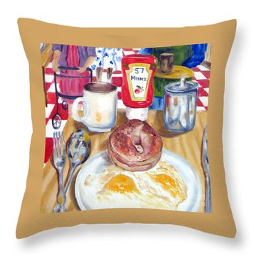 Breakfast At The Deli Throw Pillow
