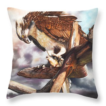 Breakfast In America Throw Pillow