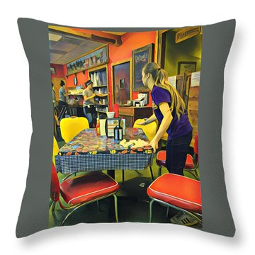 Breakfast In Wimberley Throw Pillow